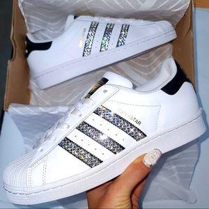 ✨Custom Bling Adidas Superstar✨